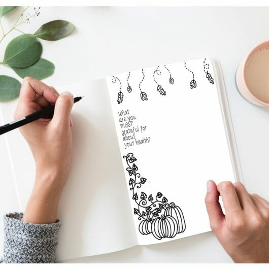 Big Grateful Heart Gratitude Printable Coloring Journal