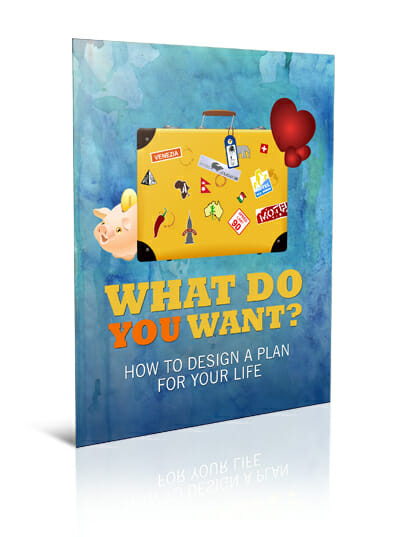 Big Lovely Life Designer - What Do You Want? How To Design A Plan For Your Life Printable Guide, Cheatsheet and Workbook