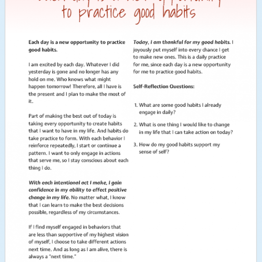 Big Happy Habits - Form Empowering Habits To Create The Life You Desire Printable Journal Prompts