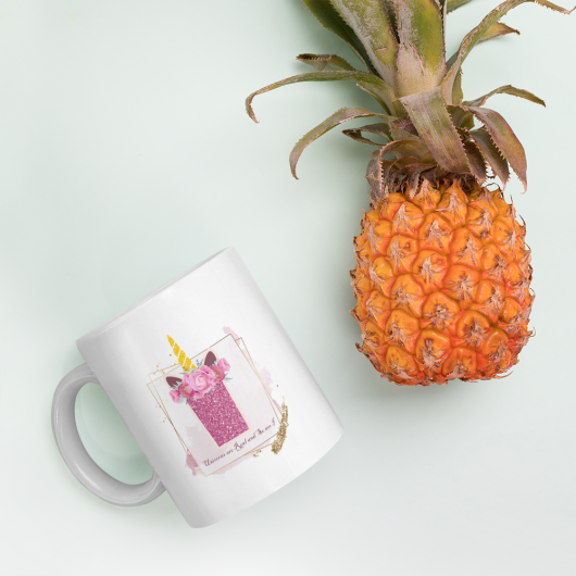 I: Monogram Initial I - Awesome Unicorn Coffee Mug I for Unicorn Believers - Unicorns Are Real and So Am I