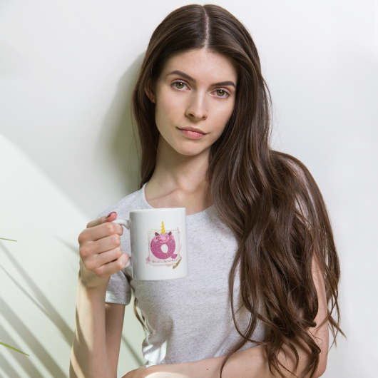 Q: Monogram Initial Q - Awesome Unicorn Coffee Mug Q for Unicorn Believers - Unicorns Are Real and So Am I