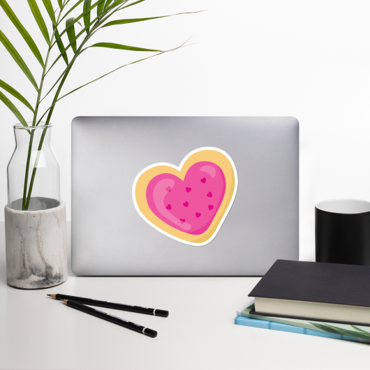 I Love Pink Cookies I Love Cafes Series Bubble-Free Planner, Journal and Laptop Stickers