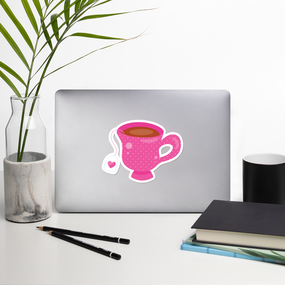 I Love Tea I Love Cafes Series Bubble-Free Planner, Journal and Laptop Stickers