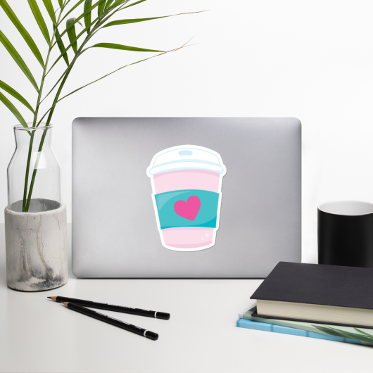 I Love Coffee To Go I Love Cafes Series Bubble-Free Planner, Journal and Laptop Stickers