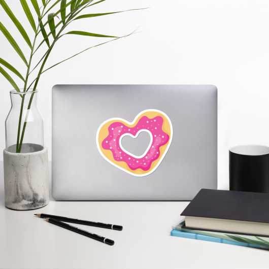 I Love Cookies I Love Cafes Series Bubble-Free Planner, Journal and Laptop Stickers