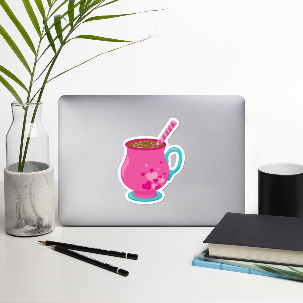 I Love Hot Chocolate I Love Cafes Series Bubble-Free Planner, Journal and Laptop Stickers