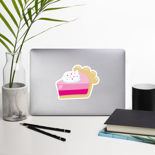 I Love Pink Cakes I Love Cafes Series Bubble-Free Planner, Journal and Laptop Stickers