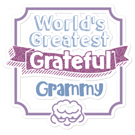World's Greatest Grateful Grammy Bubble-Free Planner, Journal and Laptop Stickers