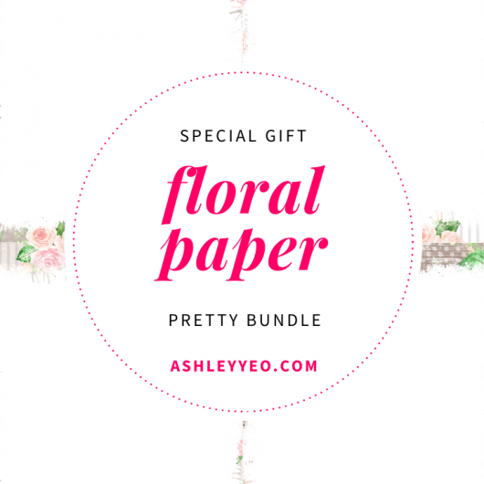 Free Pretty Bundle of 10 Printable Journal, Notebook and Planner Blank Pages with Lovely Floral Borders