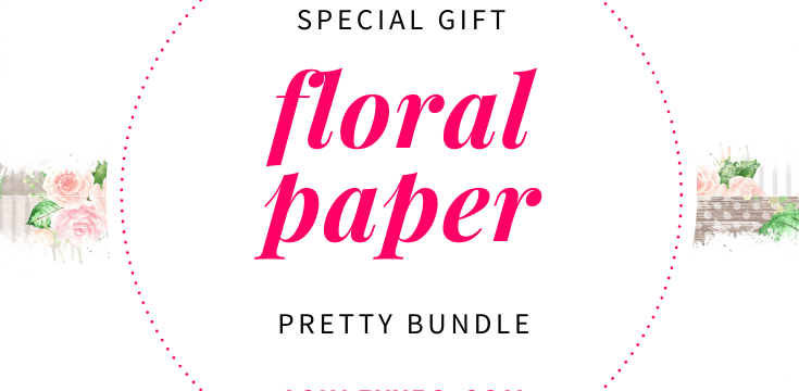 Free Pretty Bundle of 10 Printable Journal, Notebook, and Planner Blank Pages with Lovely Floral Borders