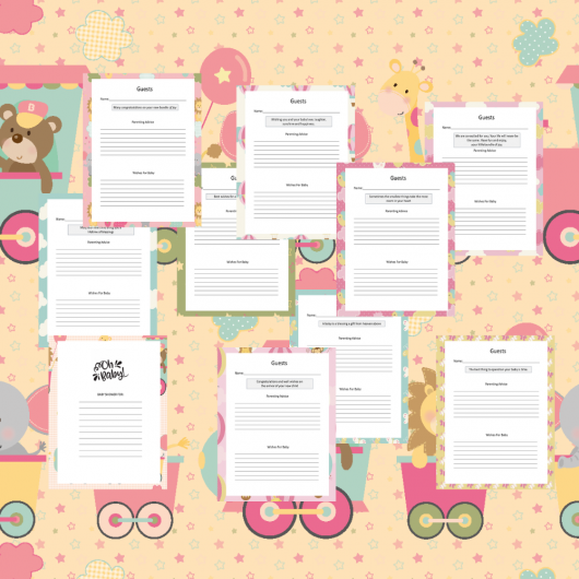 Baby Girl Guest Journal Printable Pages For Baby Showers