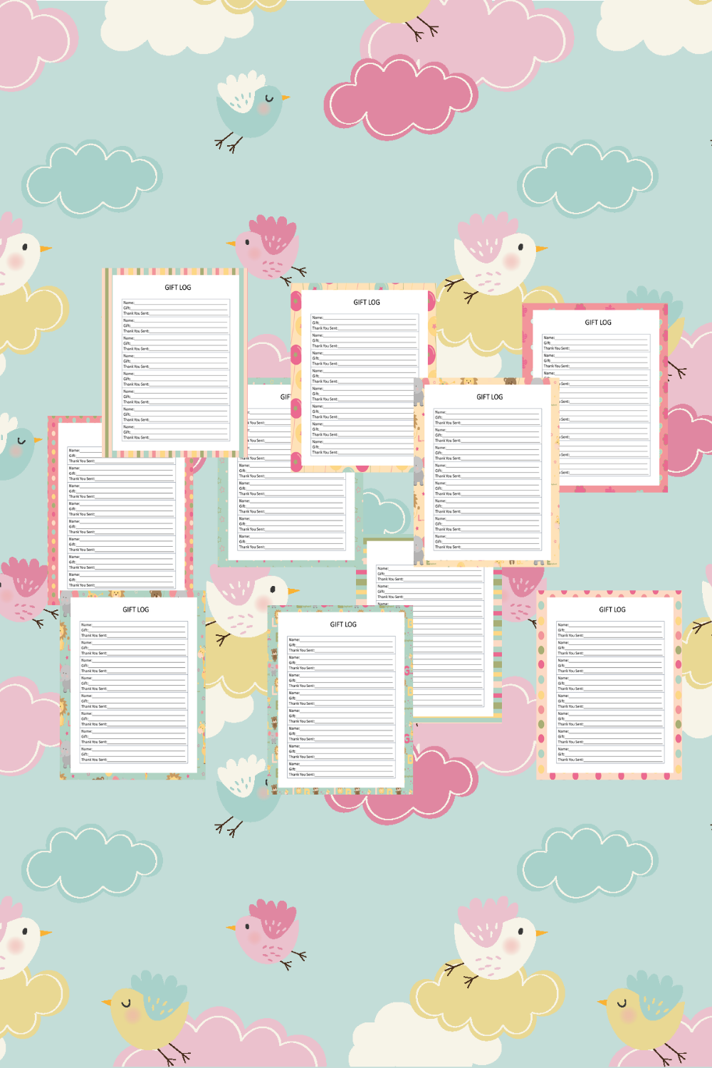 Baby Girl Guest Journal Printable Pages For Baby Showers Mockup 11