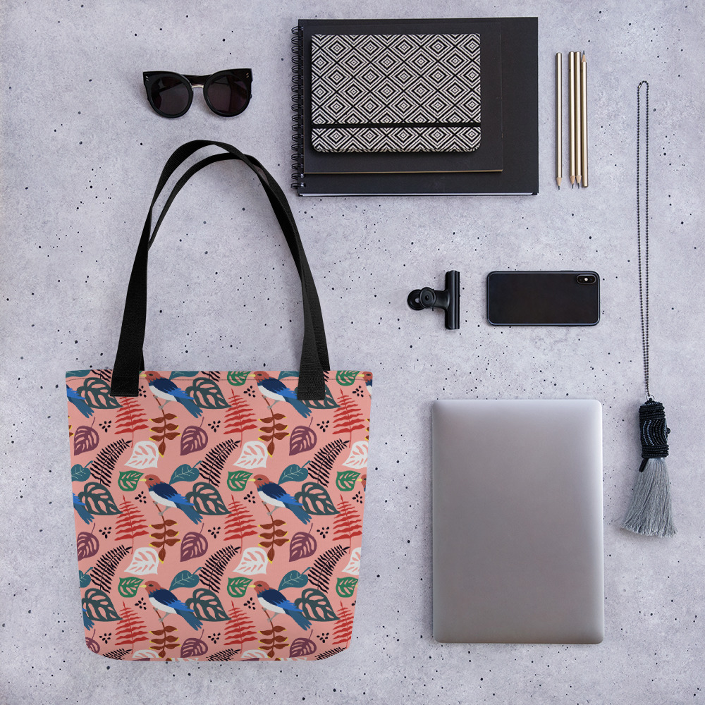 Lovely Spring Pattern 1 Pink All-Over Print Tote Bag
