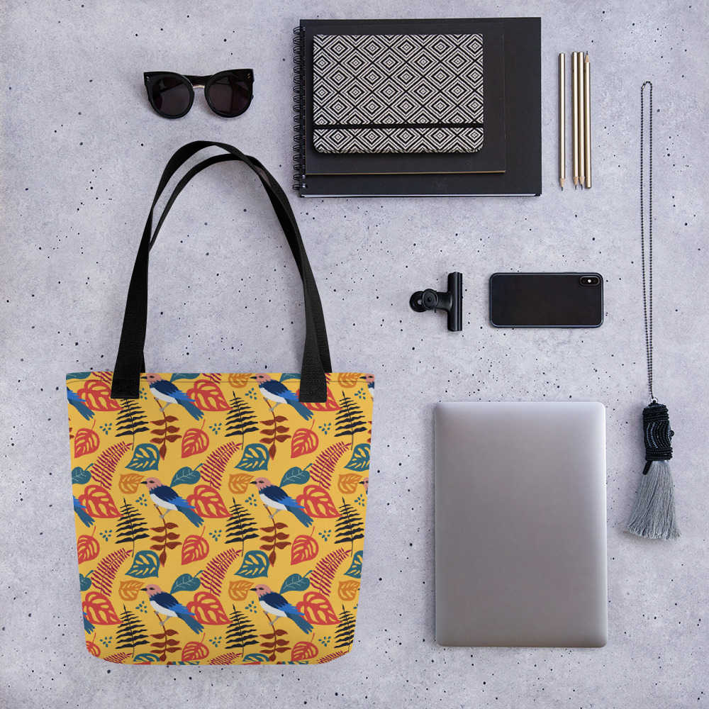 Lovely Spring Pattern 1 Yellow All-Over Print Tote Bag