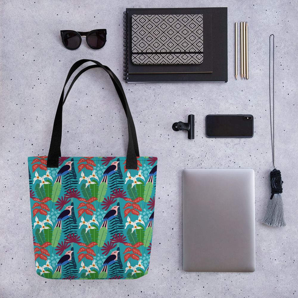 Lovely Spring Pattern 2 Blue All-Over Print Tote Bag