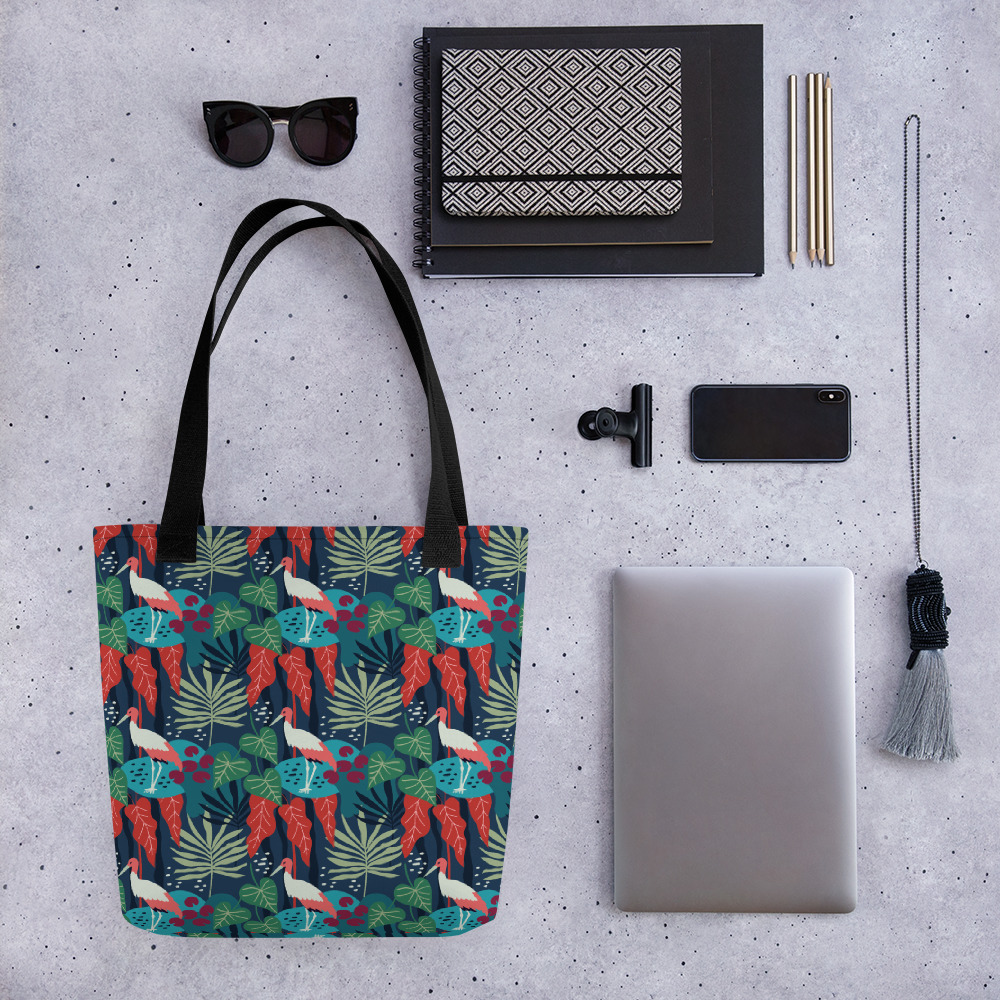 Lovely Spring Pattern 3 Blue All-Over Print Tote Bag
