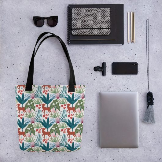 Lovely Spring Pattern 4 White All-Over Print Tote Bag