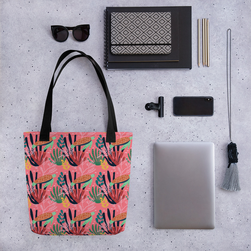 Lovely Spring Pattern 7 Pink2 All-Over Print Tote Bag
