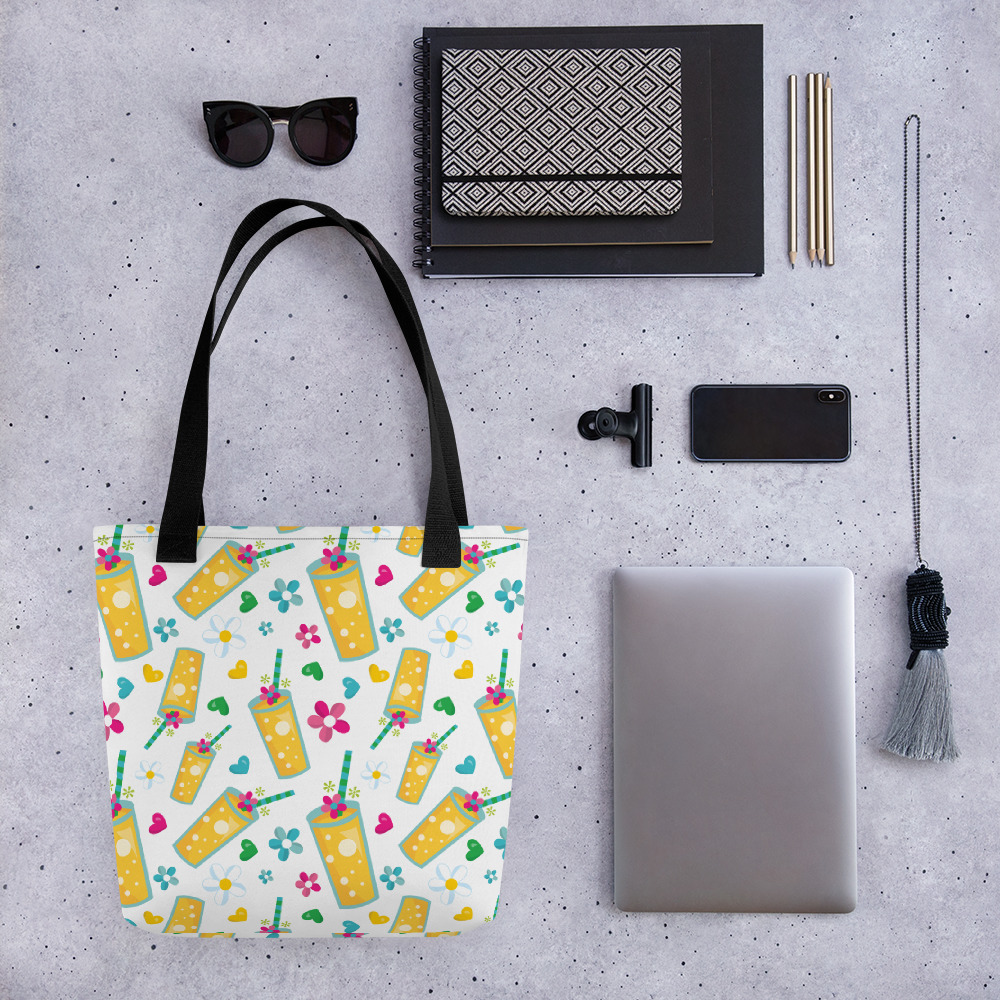 Pineapple Drink All-Over Print Tote Bag