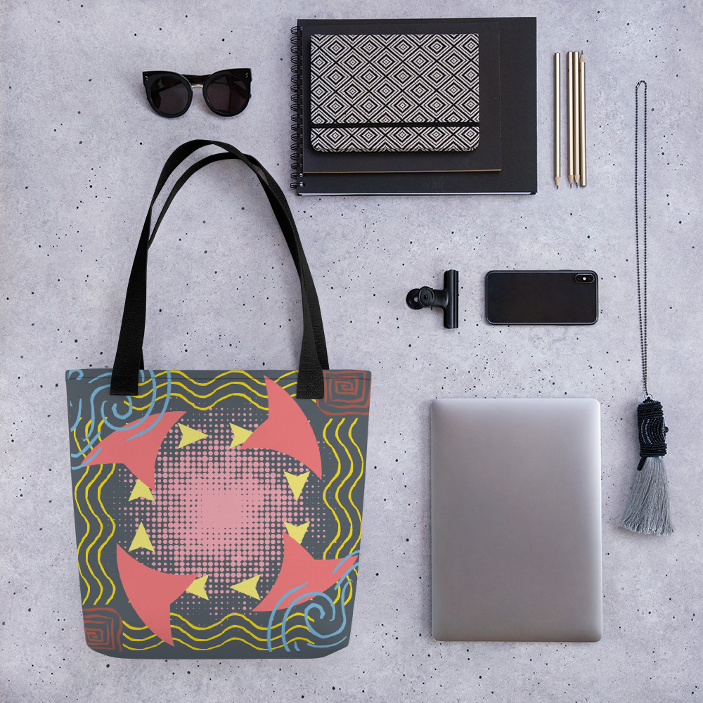 Abstract Pattern 16 All-Over Print Tote Bag