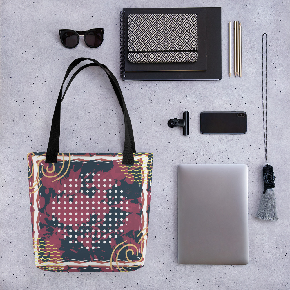 Abstract Pattern 24 All-Over Print Tote Bag