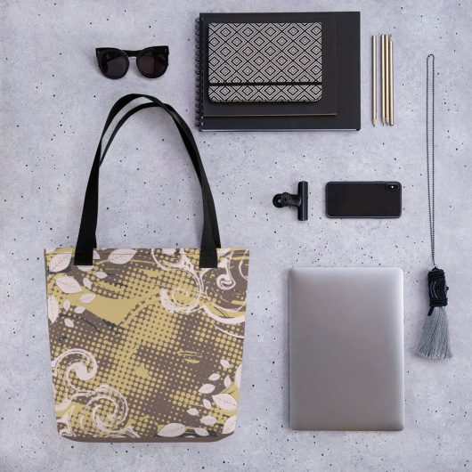 Abstract Pattern 30 All-Over Print Tote Bag
