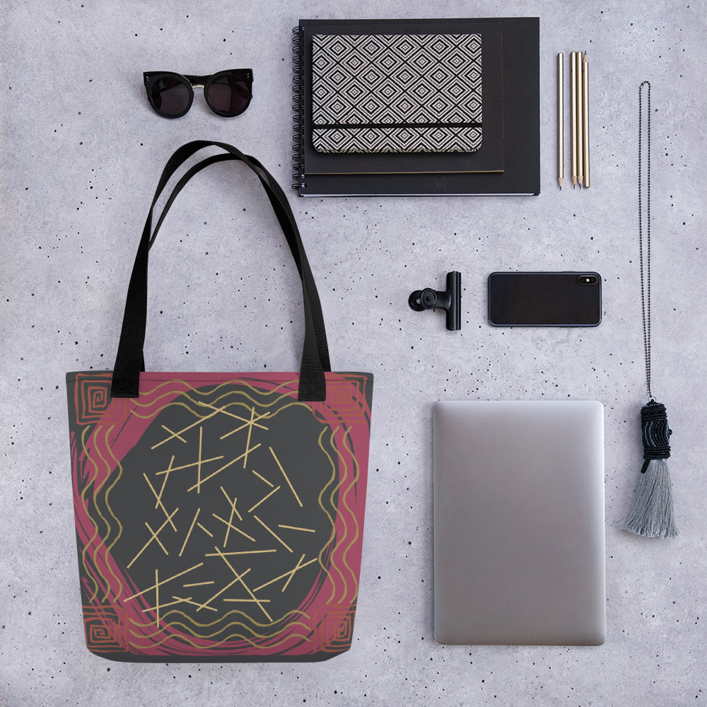 Abstract Pattern 31 All-Over Print Tote Bag