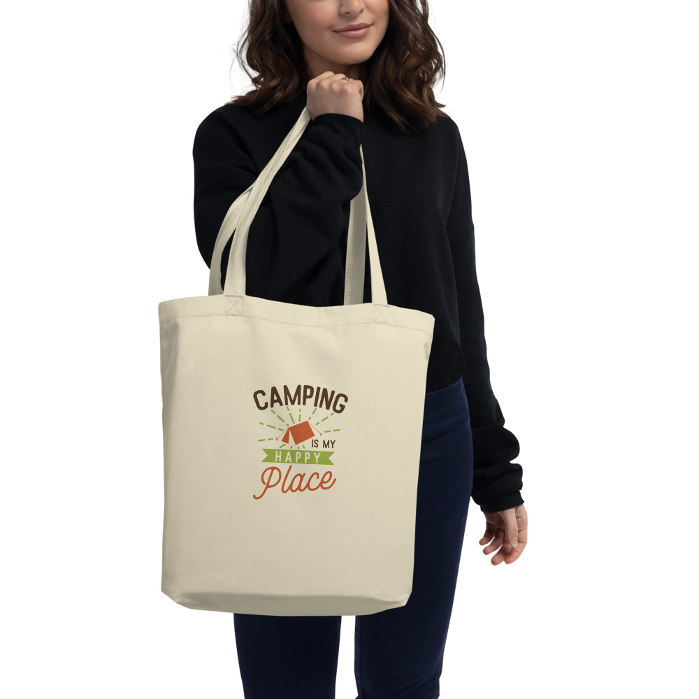 Camping Is My Happy Place Eco Tote Bag