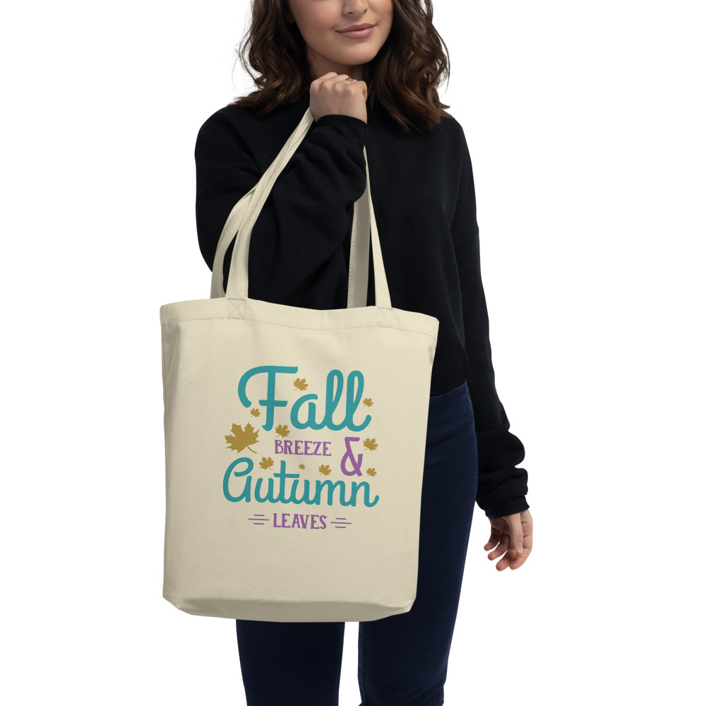 Fall Breeze And Autumn Leaves Eco Tote Bag