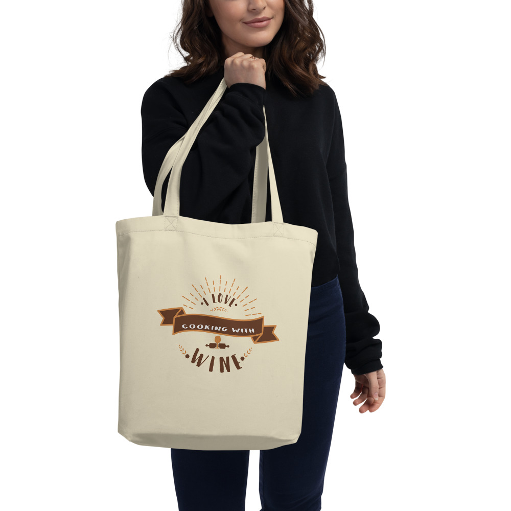 I Love Cooking With Wine Eco Tote Bag