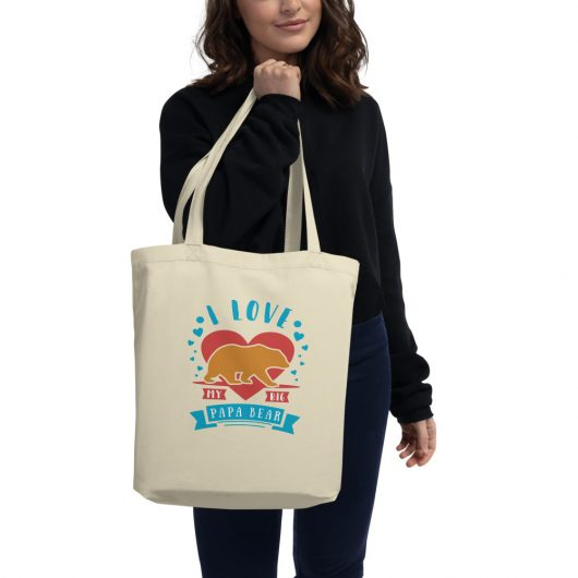 I Love My Big Polar Bear Eco Tote Bag