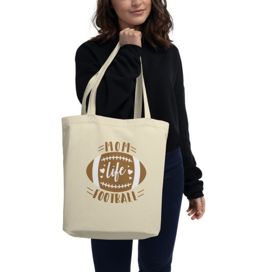 Mom Life Football Eco Tote Bag
