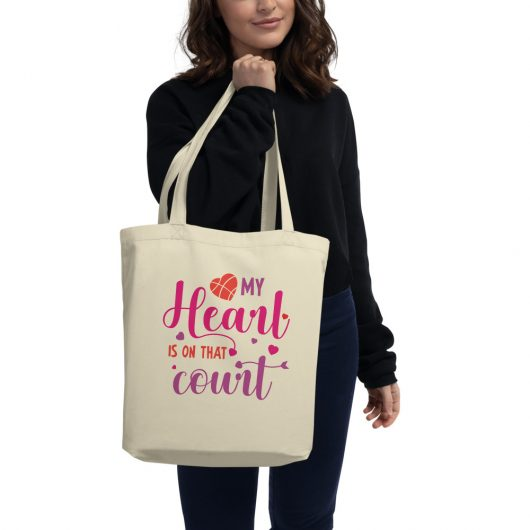 My Heart Is On That Court Eco Tote Bag