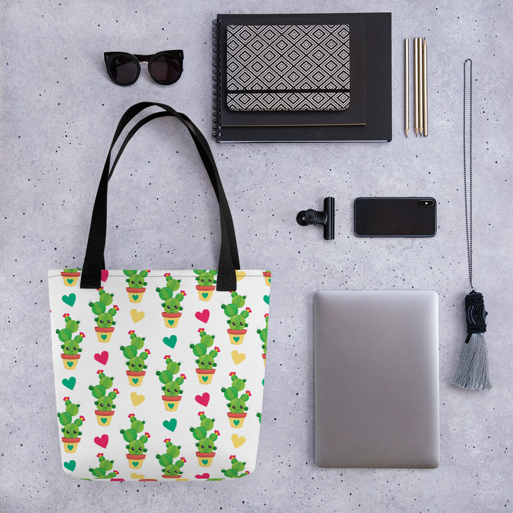 Cactus Loves You All-Over Print Tote Bag