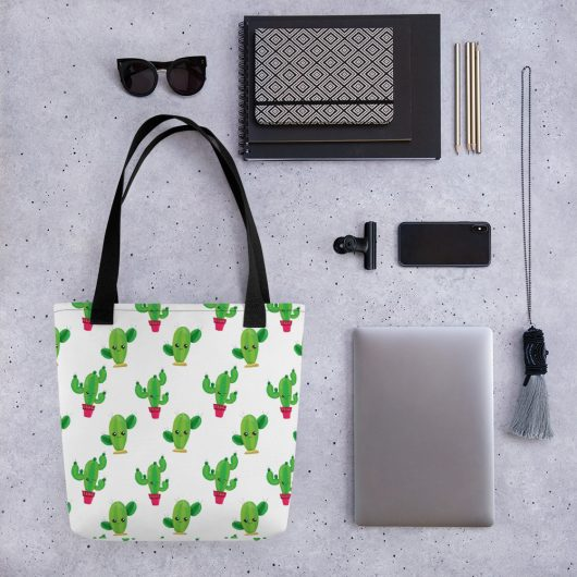 Cactus Power All-Over Print Tote Bag