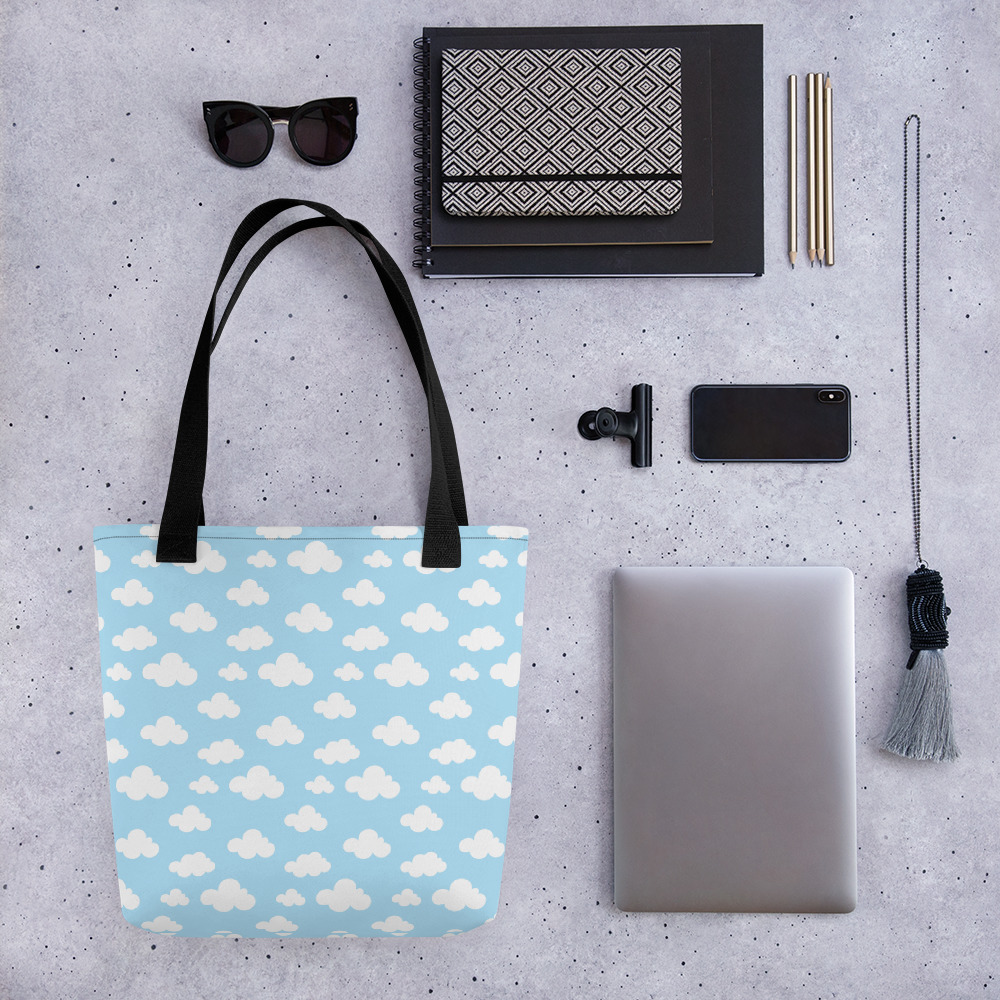 Clouds and Me All-Over Print Tote Bag