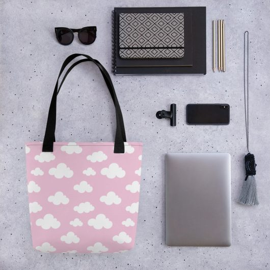 Clouds In Pink Sky All-Over Print Tote Bag