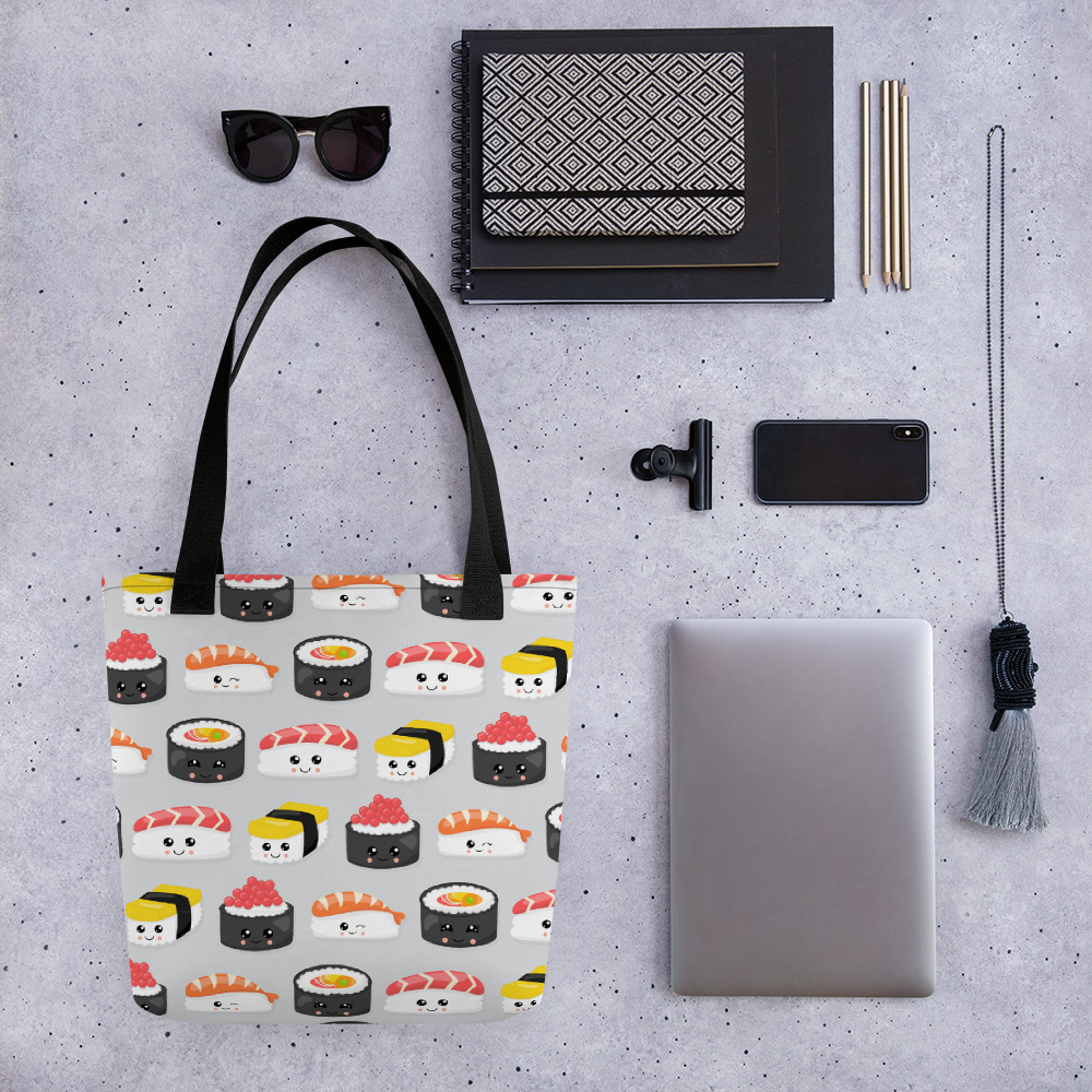 I Need Sushi Now All-Over Print Tote Bag