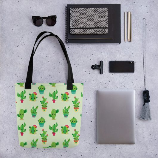 Simply Sweet Cactus All-Over Print Tote Bag