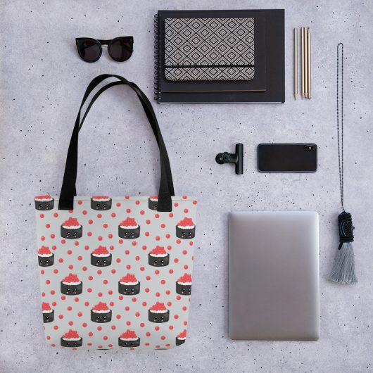 Sushi Power All-Over Print Tote Bag