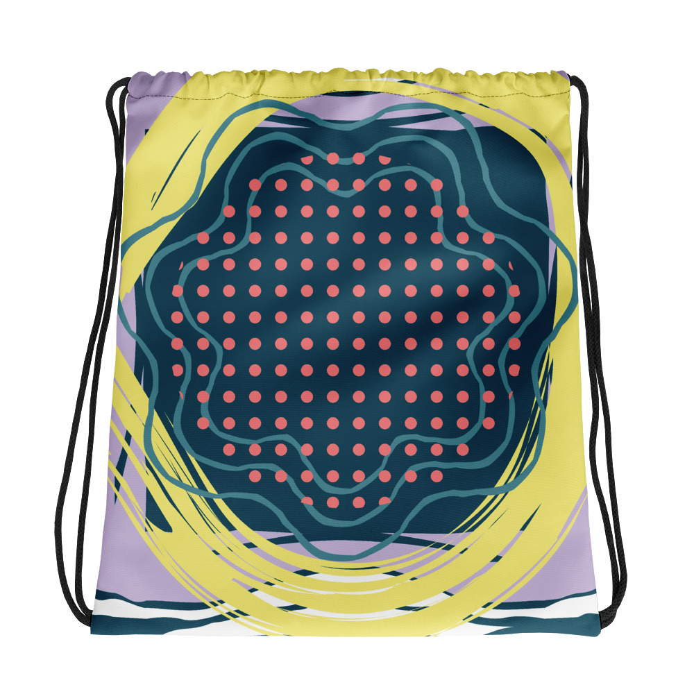 Abstract Pattern 6 All-Over Print Drawstring Bag