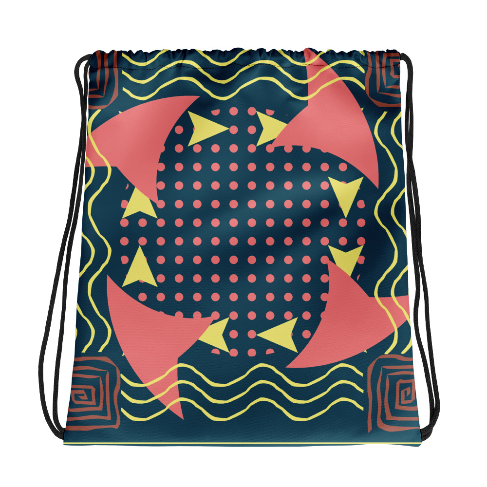 Abstract Pattern 7 All-Over Print Drawstring Bag
