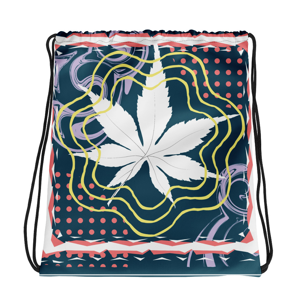 Abstract Pattern 8 All-Over Print Drawstring Bag