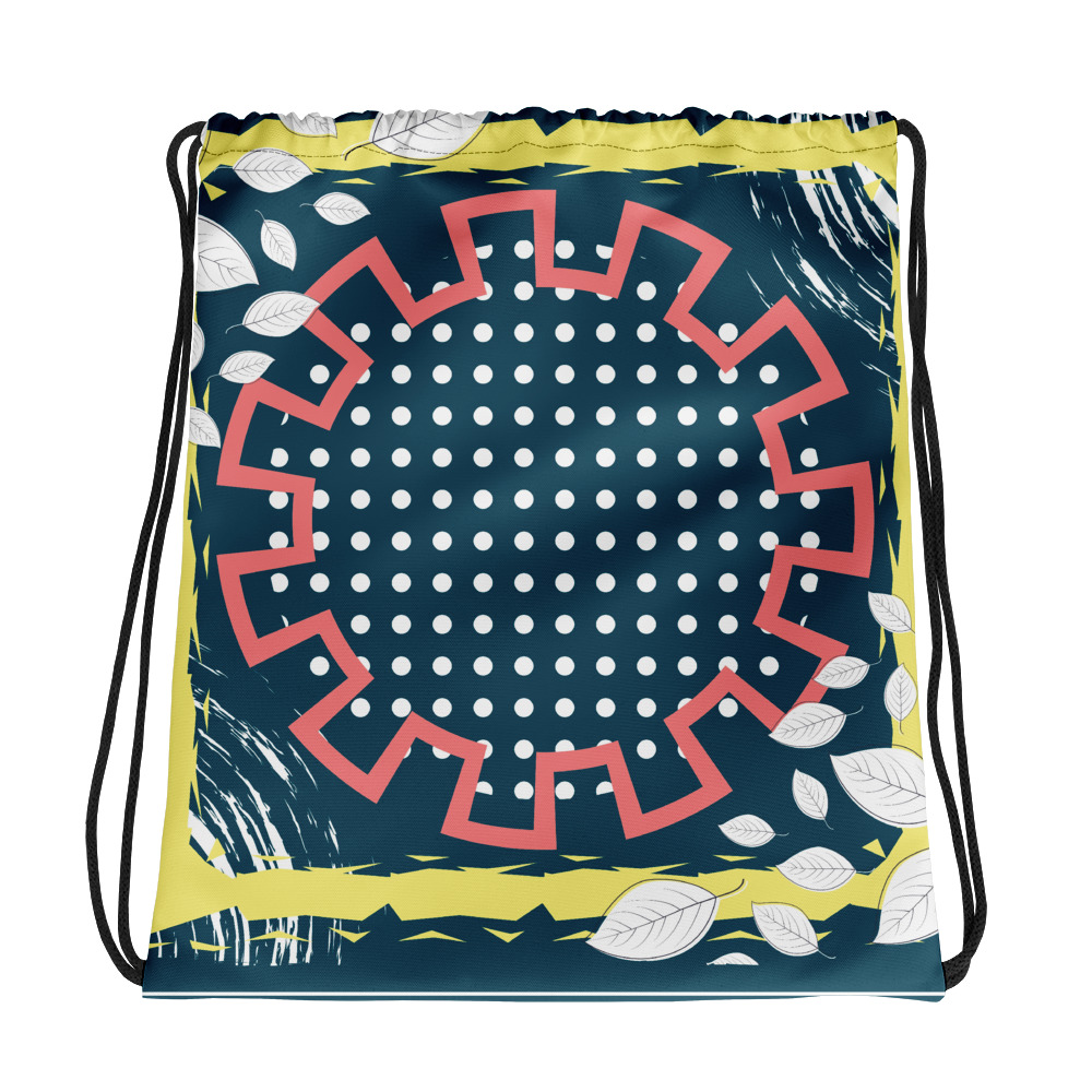 Abstract Pattern 9 All-Over Print Drawstring Bag