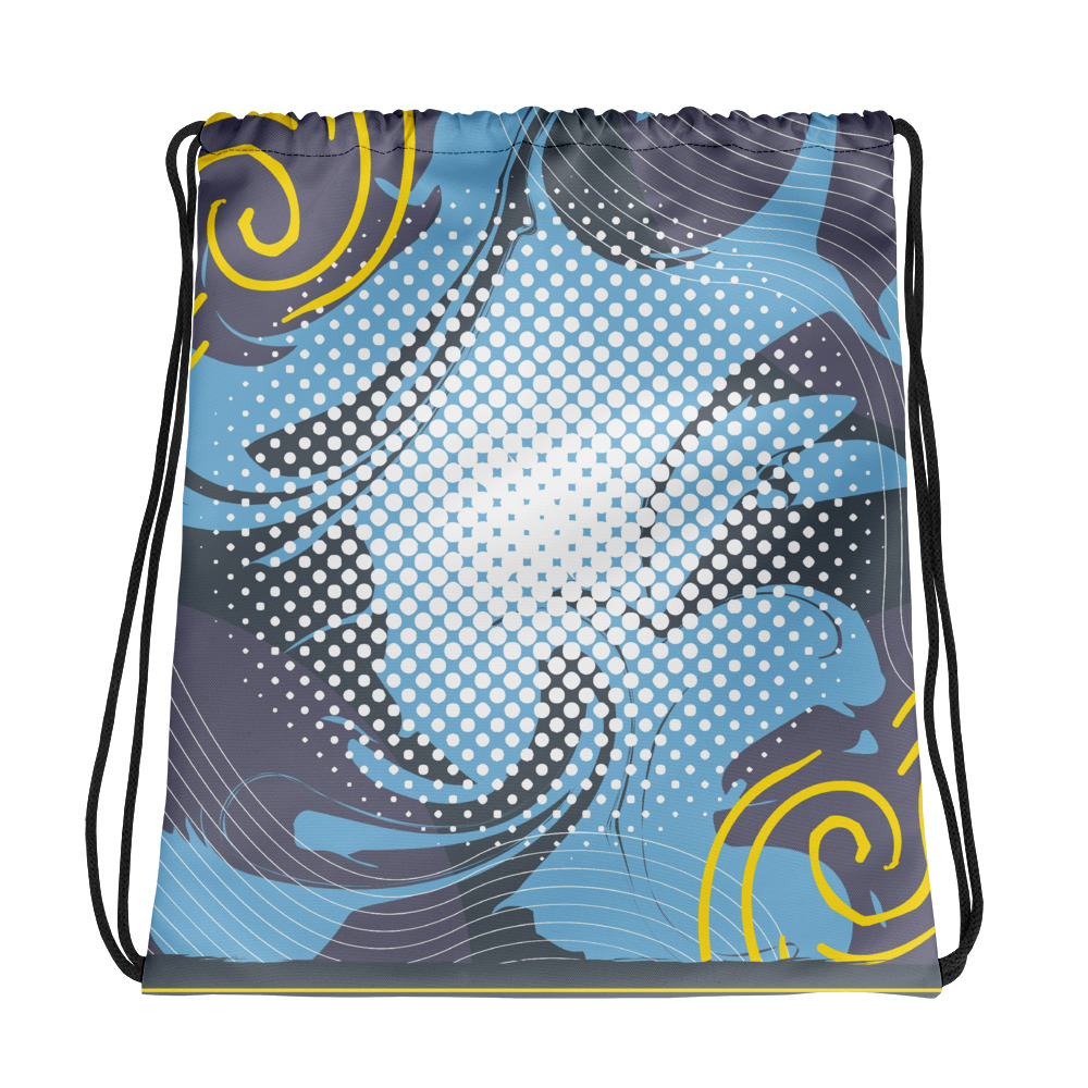 Abstract Pattern 11 All-Over Print Drawstring Bag