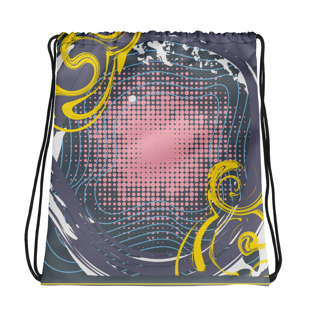 Abstract Pattern 12 All-Over Print Drawstring Bag
