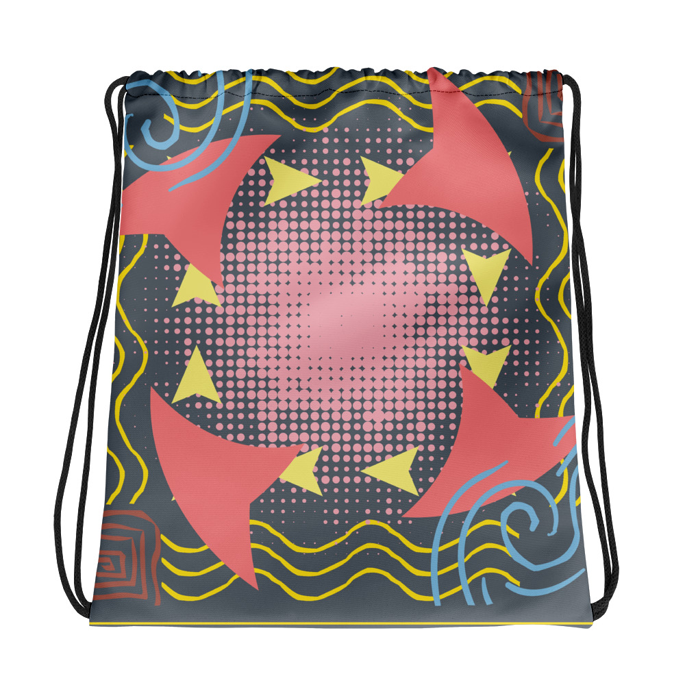 Abstract Pattern 13 All-Over Print Drawstring Bag