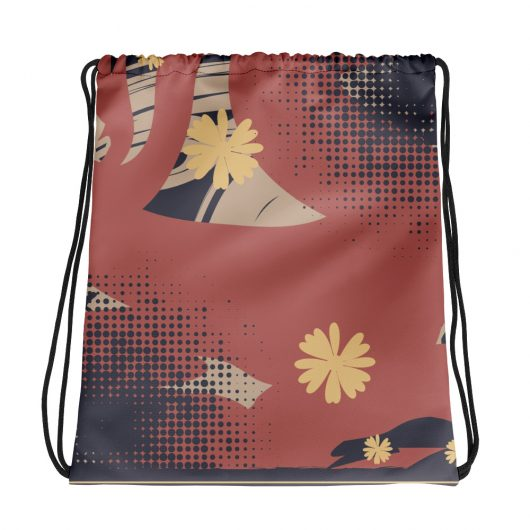 Abstract Pattern 14 All-Over Print Drawstring Bag