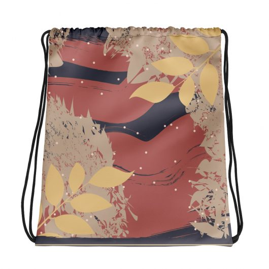 Abstract Pattern 15 All-Over Print Drawstring Bag