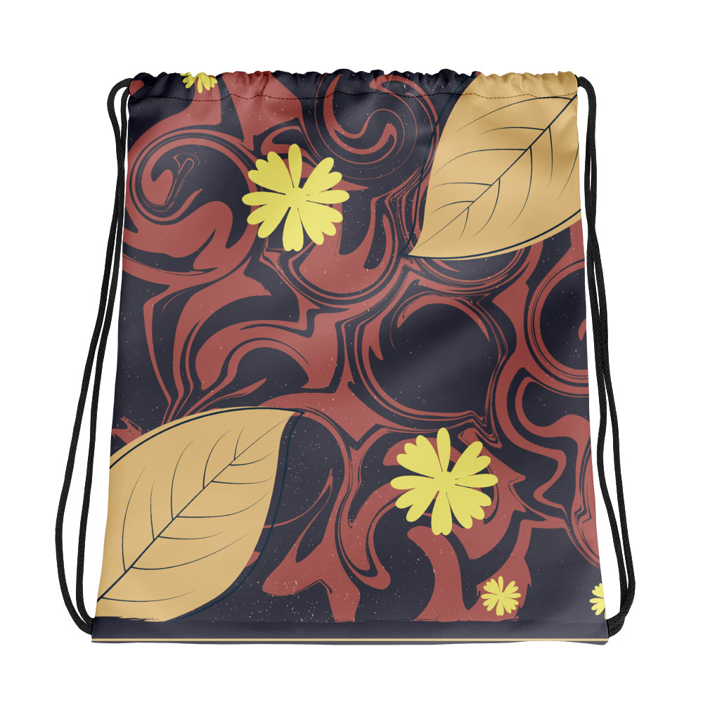 Abstract Pattern 16 All-Over Print Drawstring Bag